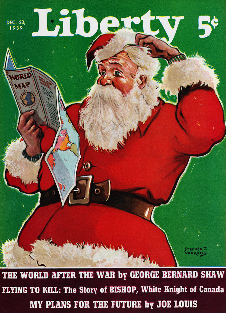 Detail of Cover of Magazine with a Confused Santa Claus by Corbis