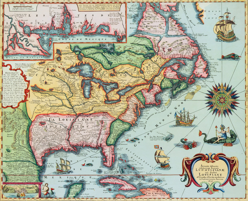 17th Century Map of North America posters & prints by Corbis