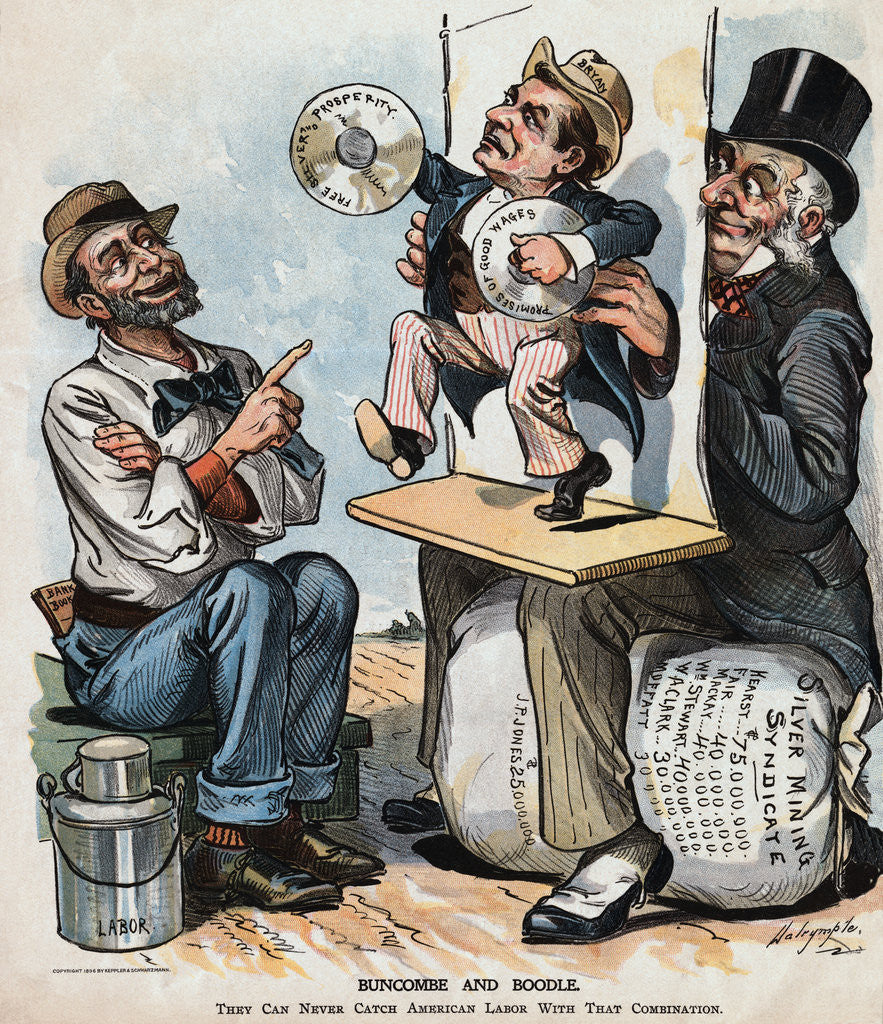 Detail of 1896 Political Cartoon by Corbis
