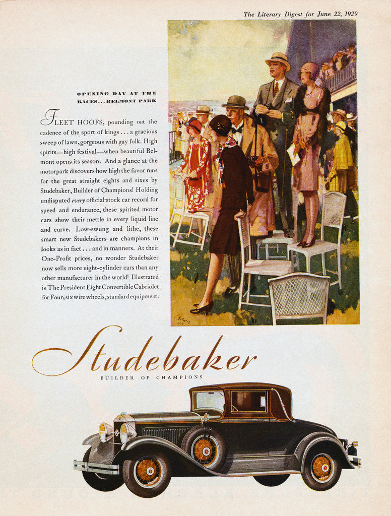 Detail of 1929 Studebaker Advertisement by Corbis