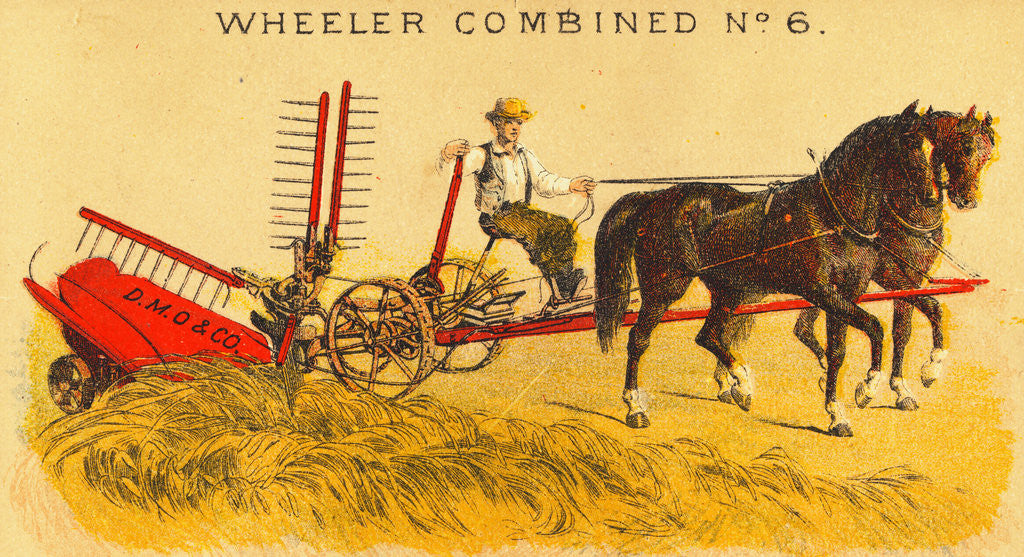 Detail of Farmer Driving Mowing Machine by Corbis
