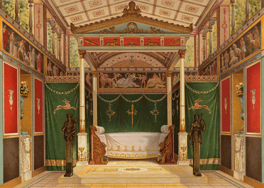 Detail of Reconstruction of Roman Interior by Corbis