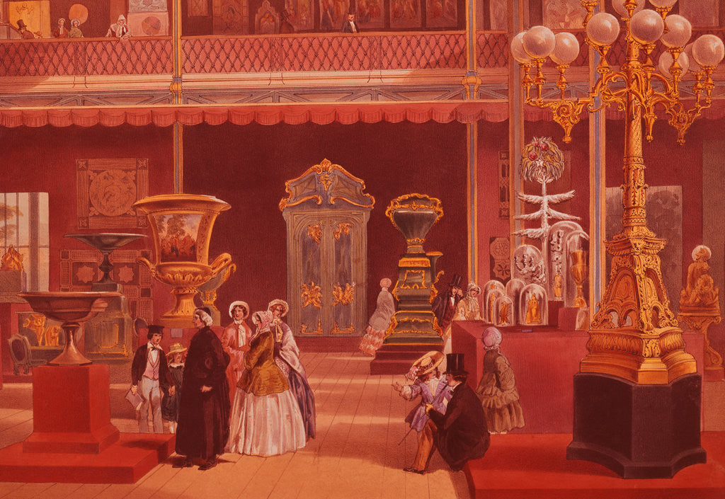 Detail of Color Print Depicting Products of India at the 1851 London Exposition by Corbis