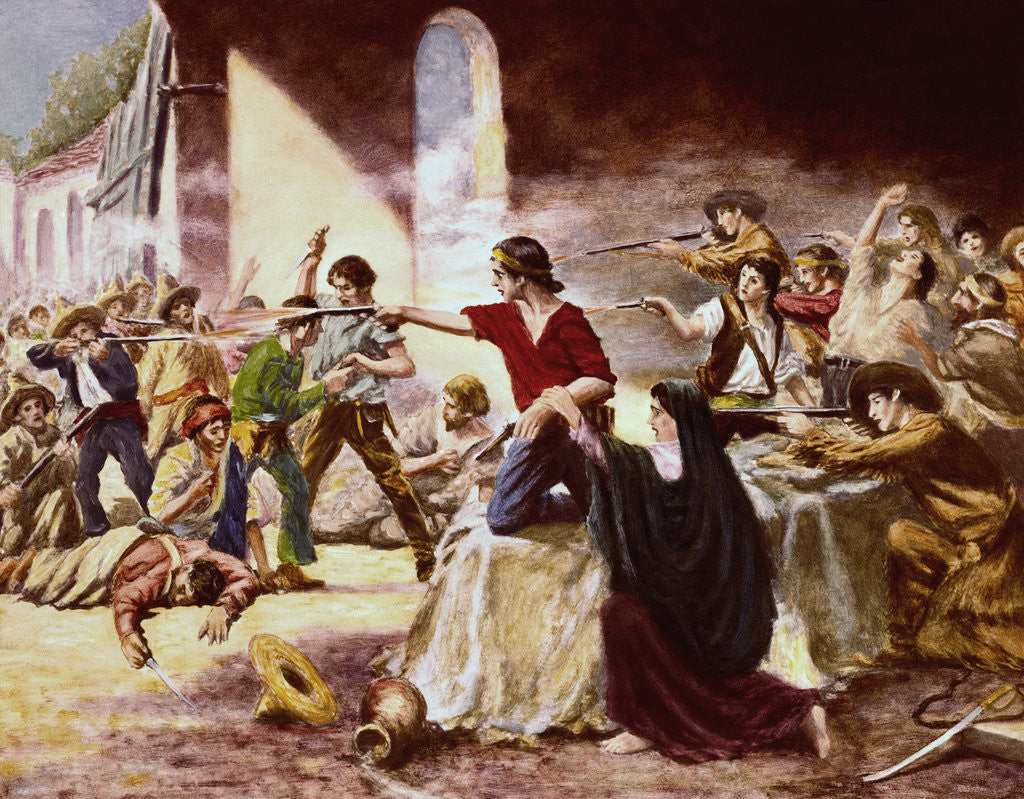 Detail of In Defense of the Alamo by Corbis