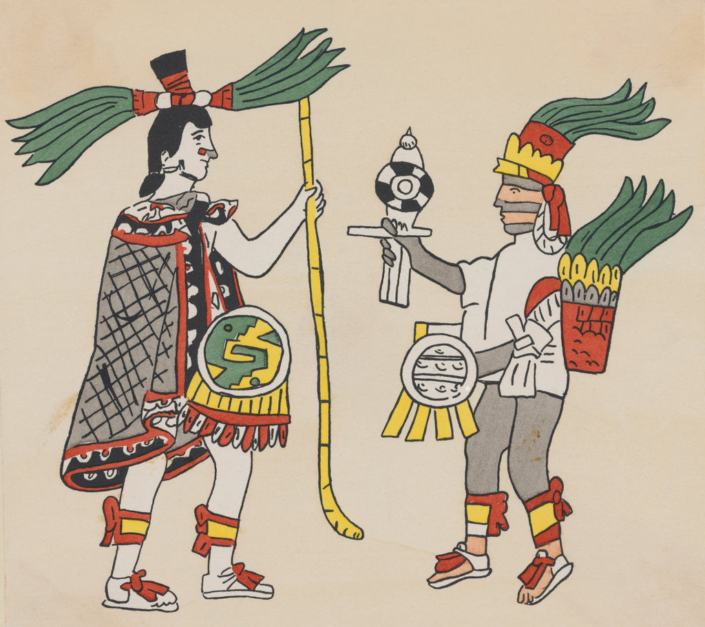 Detail of Illustration of Yacatecuhtli and Tezcatlipoca by Corbis