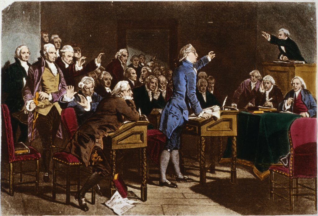 Detail of Patrick Henry Addressing the Virginia Assembly by Corbis