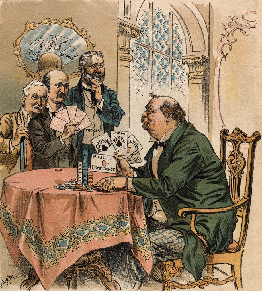 Detail of Grover Cleveland Playing Poker by Corbis