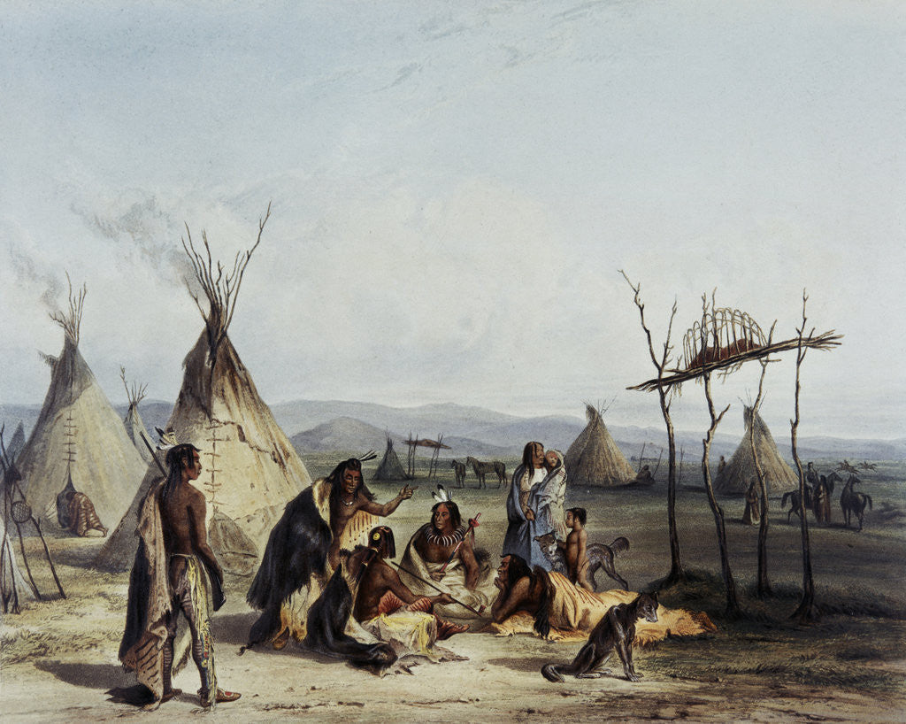 Detail of Sioux Indians Gathering by Corbis