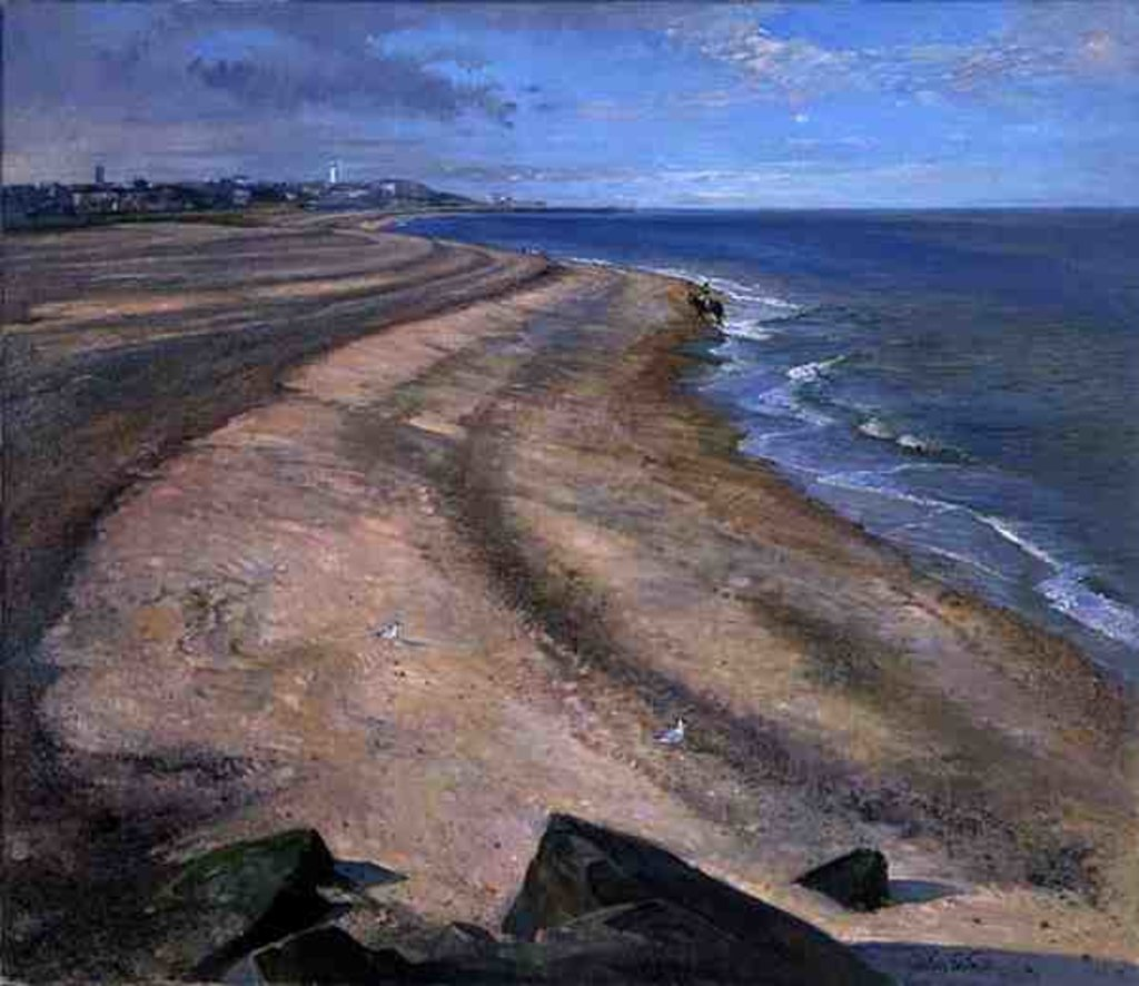 Detail of Beach Curve Towards Southwold by Timothy Easton