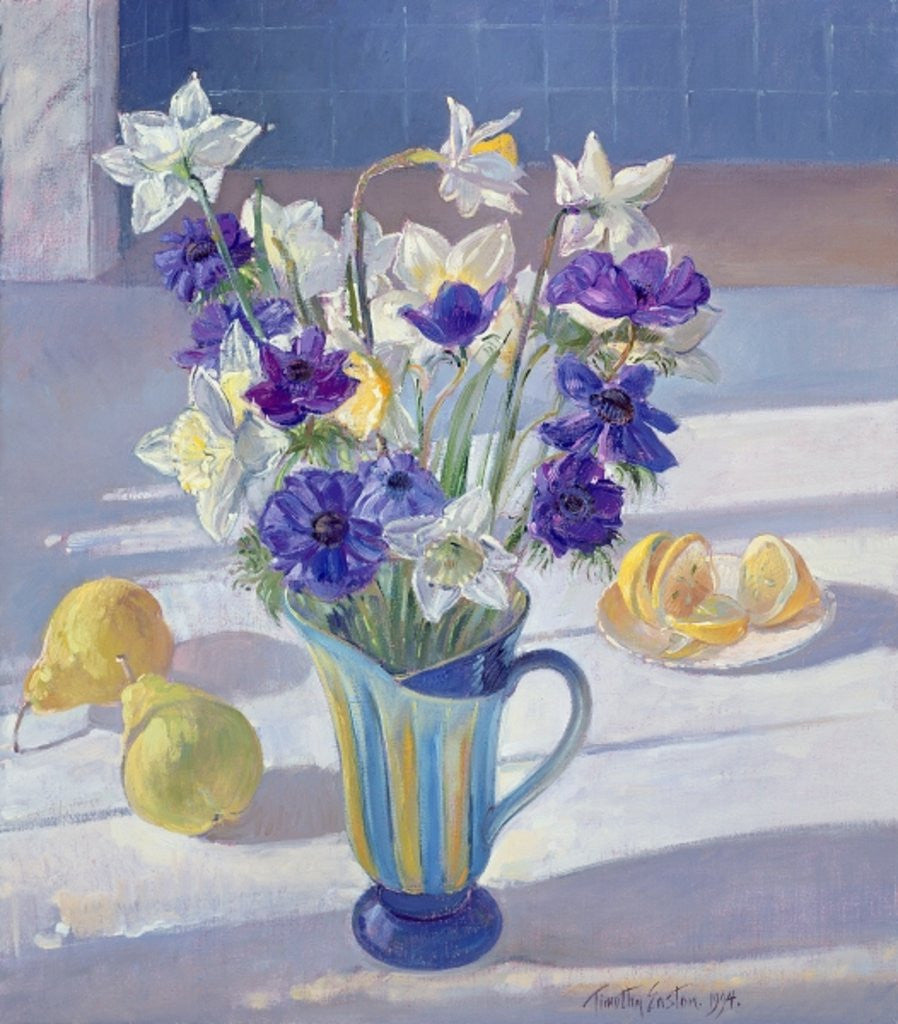 Detail of Spring Flowers and Lemons by Timothy Easton