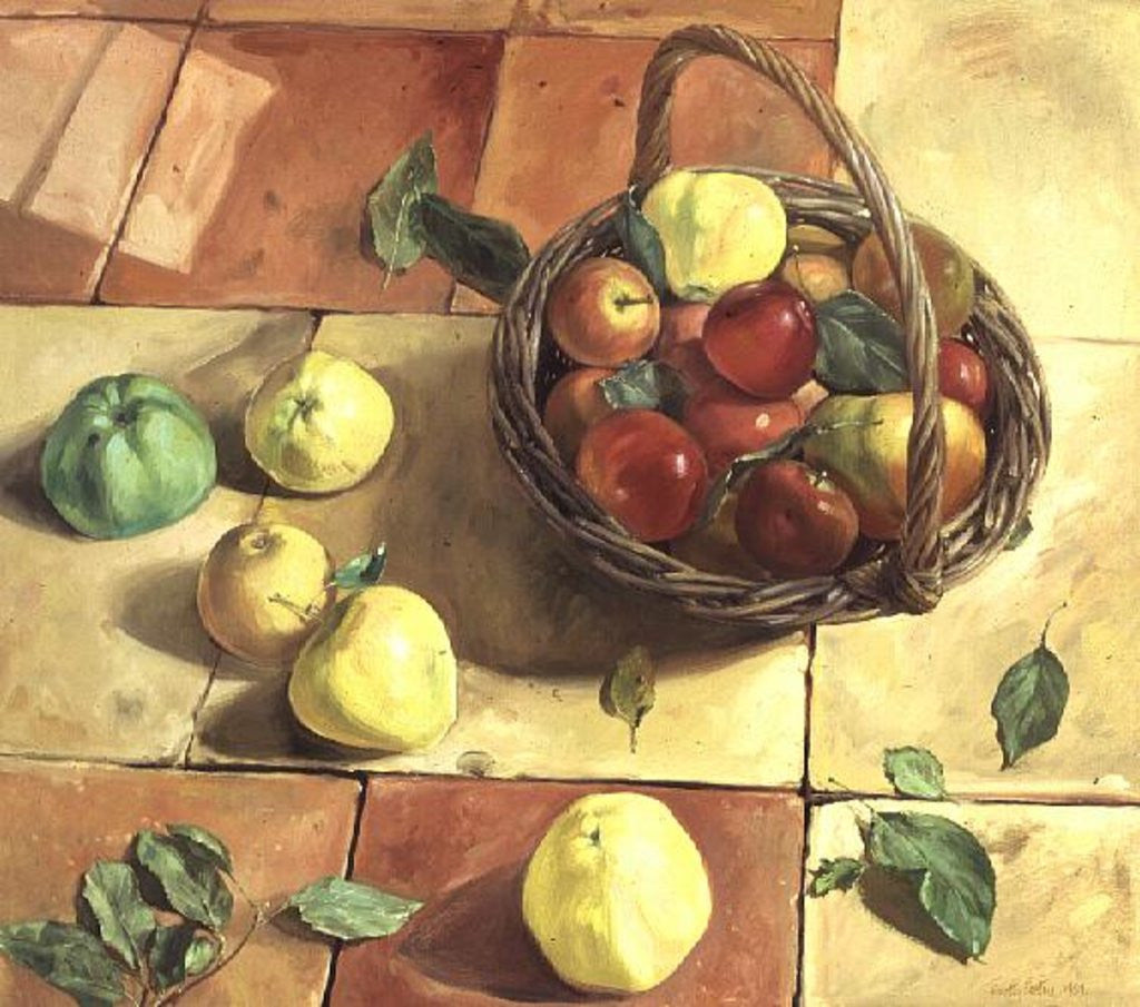 Detail of The Apple Basket by Timothy Easton