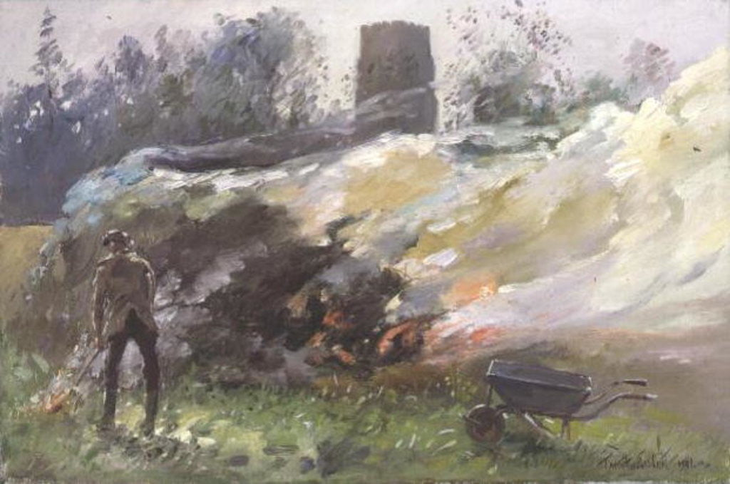 Detail of Autumn Bonfire by Timothy Easton