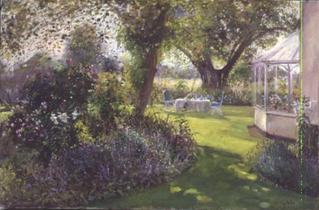 Detail of Tea Under the Great Oak by Timothy Easton