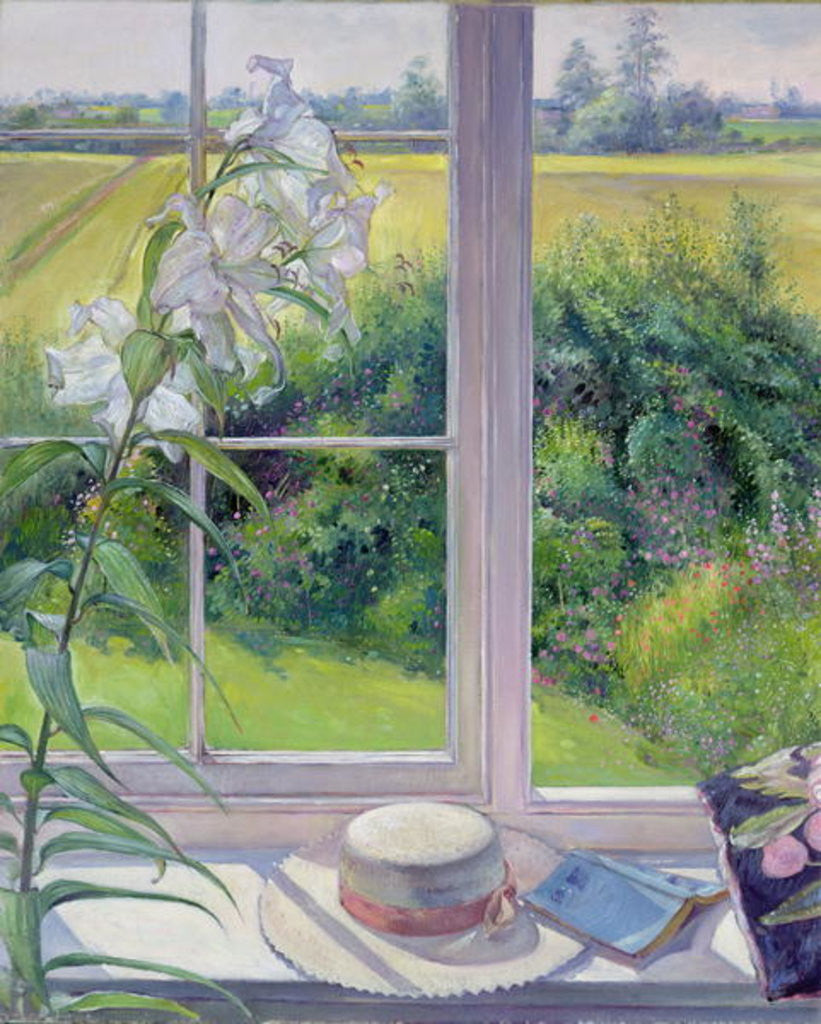 Detail of Window Seat and Lily by Timothy Easton