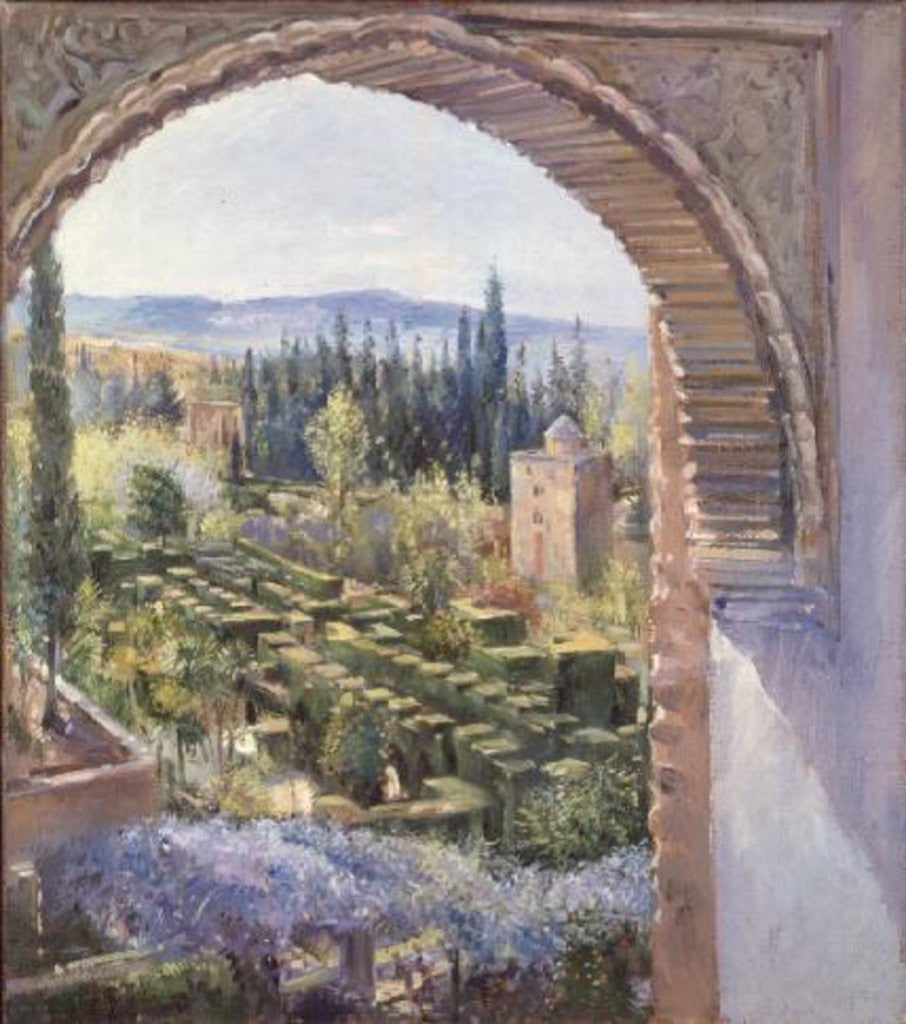 Detail of Alhambra Gardens by Timothy Easton