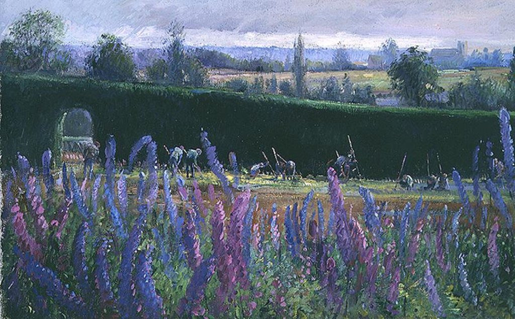 Detail of Hoeing Against the Hedge by Timothy Easton