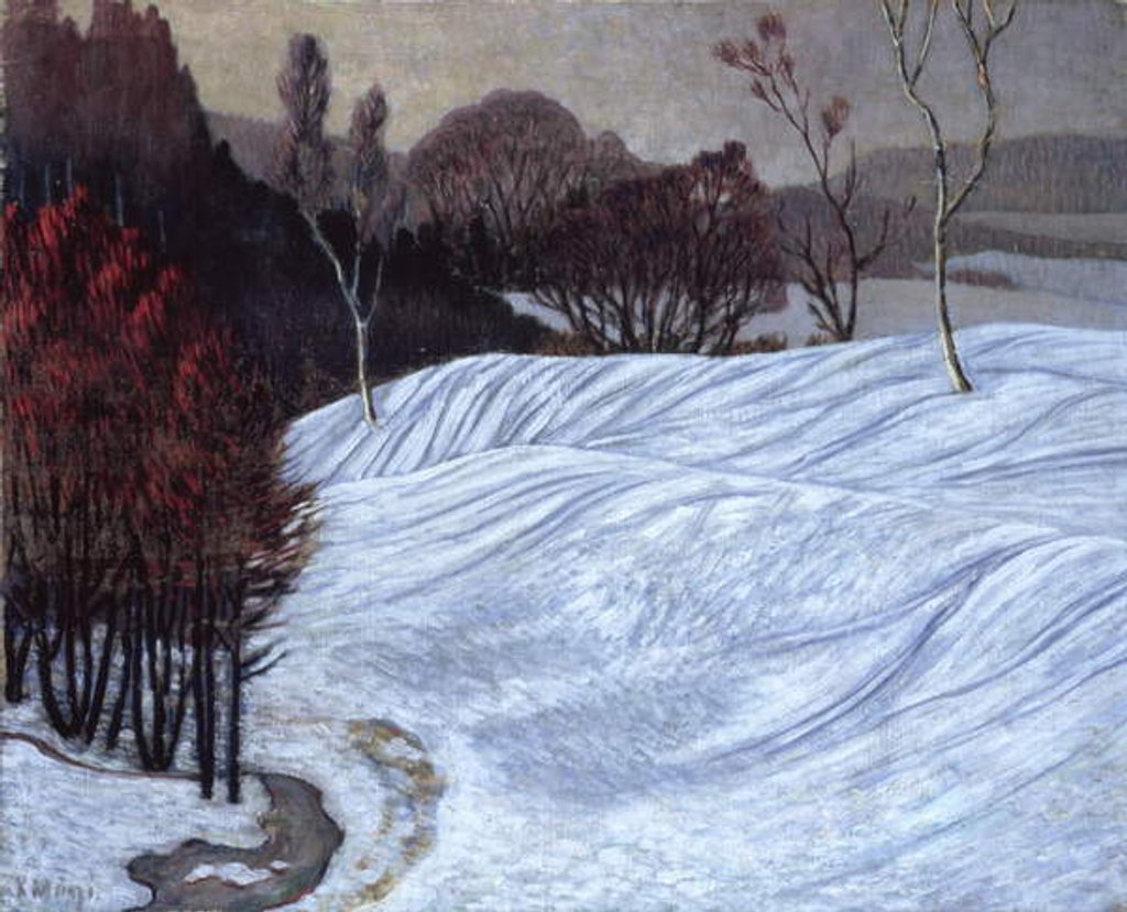 Detail of Norwegian Landscape, 1908-10 by Konrad Magi