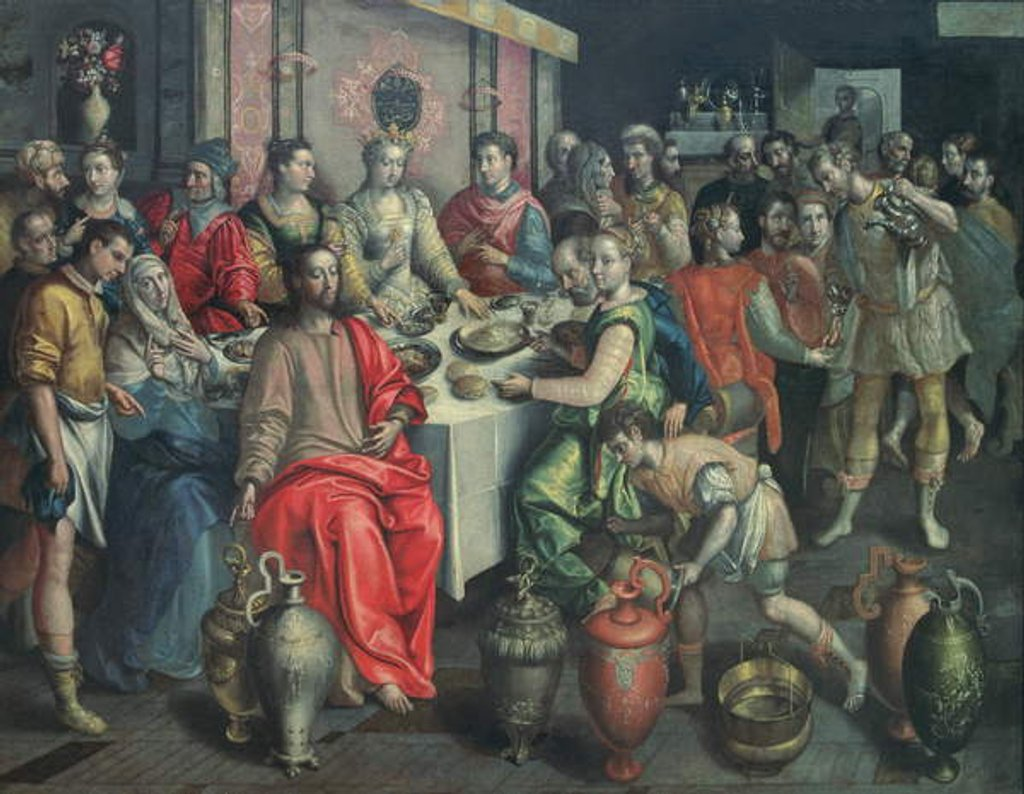 Detail of The Marriage at Cana, 1597 by Maarten de Vos