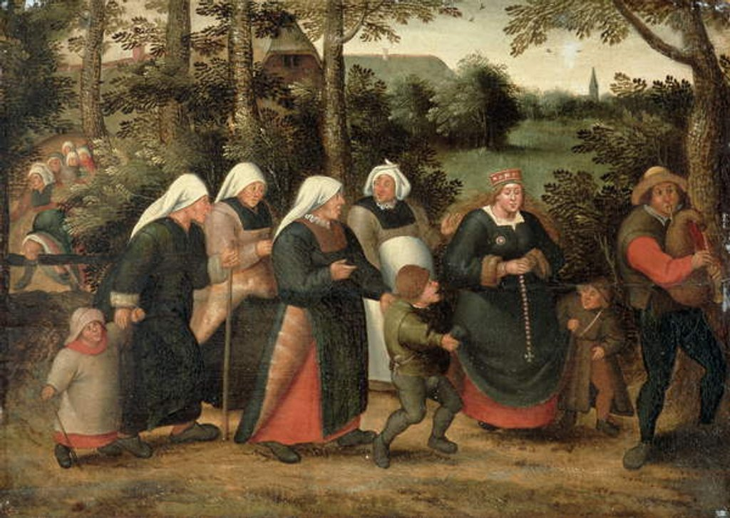 Detail of The Procession of the Bride by Pieter the Younger Brueghel