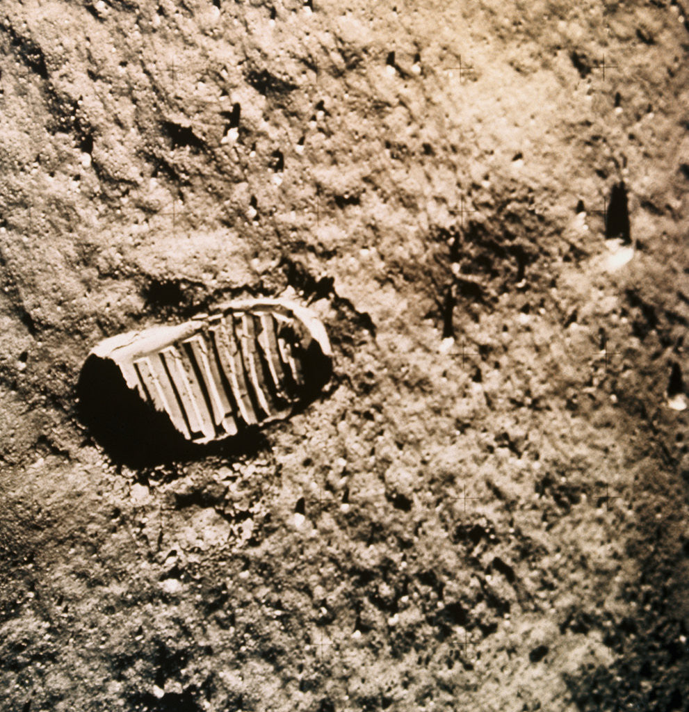 Detail of Astronaut's Footprint on the Moon by Corbis