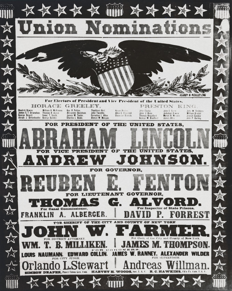 Detail of Early American Campaign Poster by Corbis