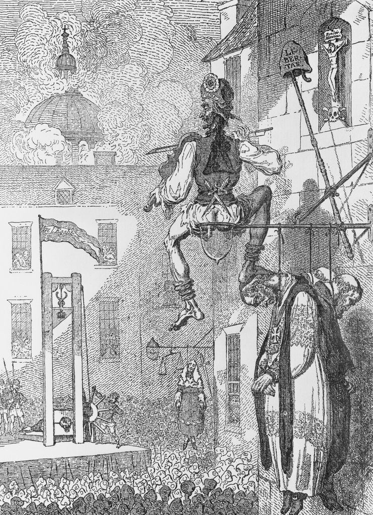 Detail of Cartoon Depicting Execution of Louis XVI by Corbis