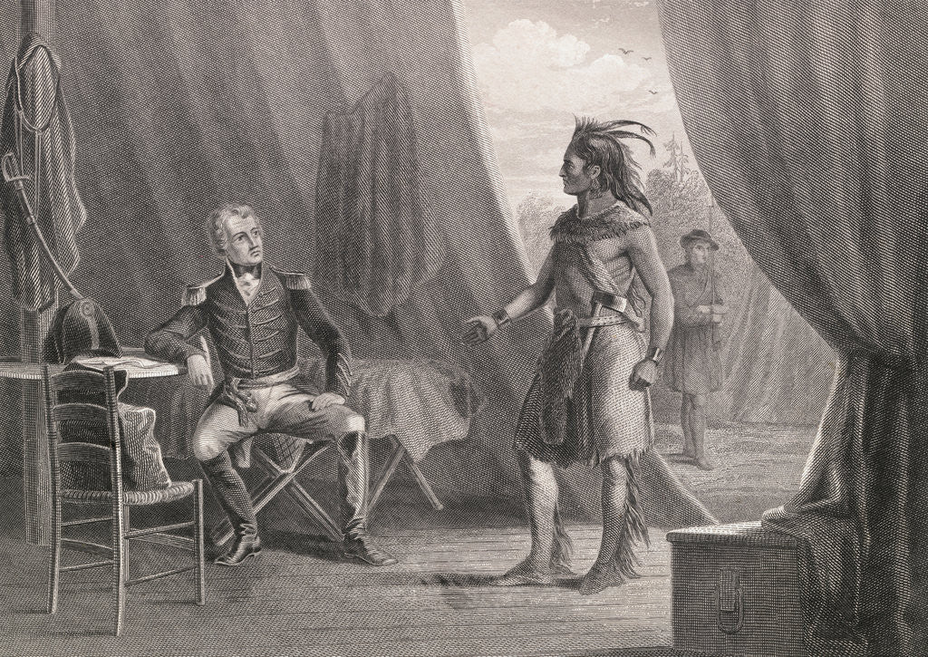 Detail of Andrew Jackson and William Weatherford Conversing by Corbis