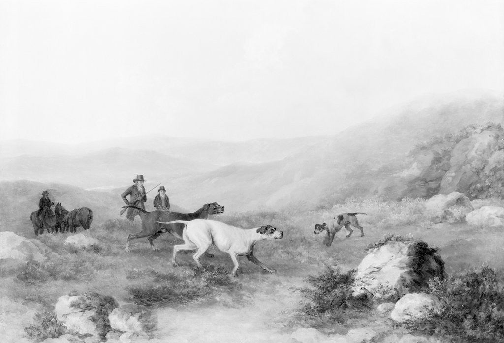 Detail of Colonel Thornton Hunting with His Dogs by Corbis