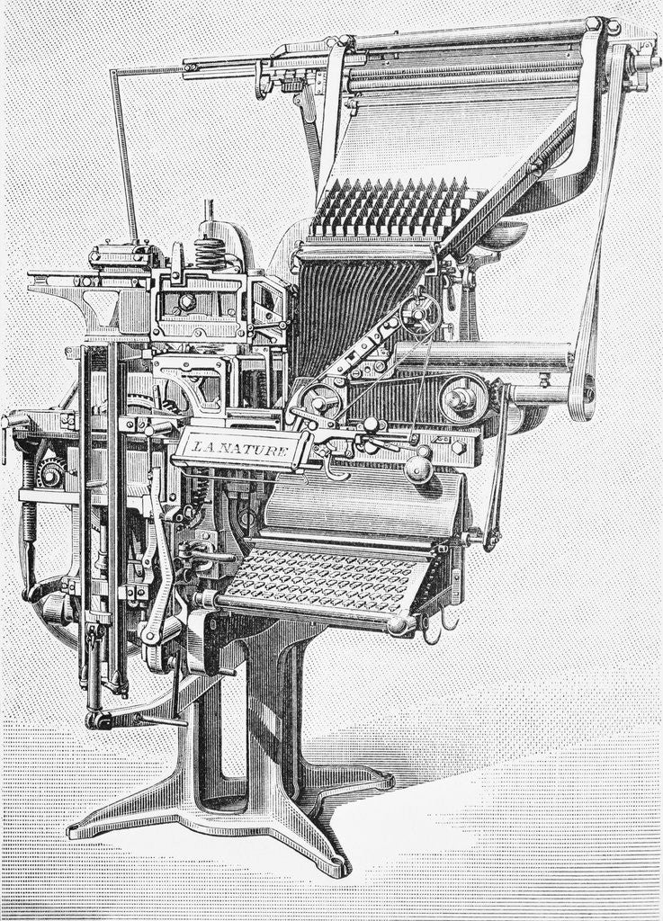 Detail of 19th Century Linotype Machine by Corbis