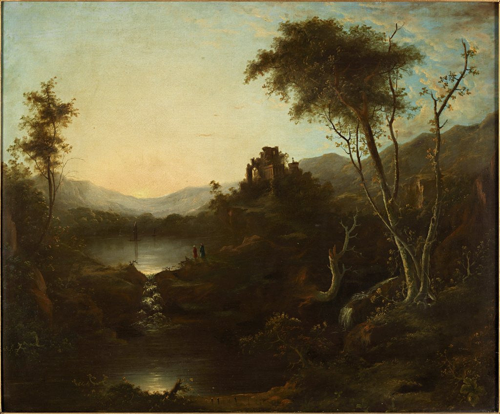 Detail of Landscape with Ruins by Sebastian Pether