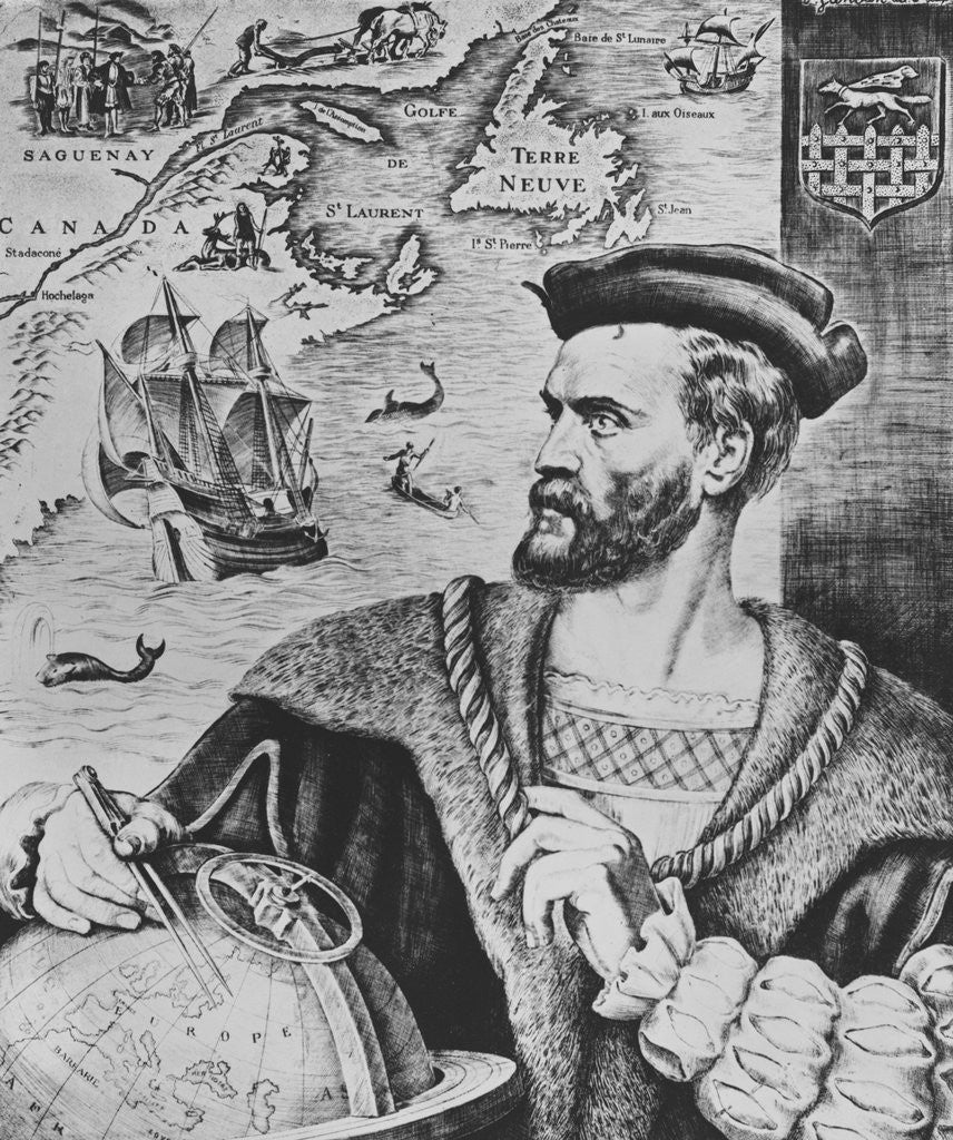 Detail of Illustration Depicting Jacques Cartier by Corbis