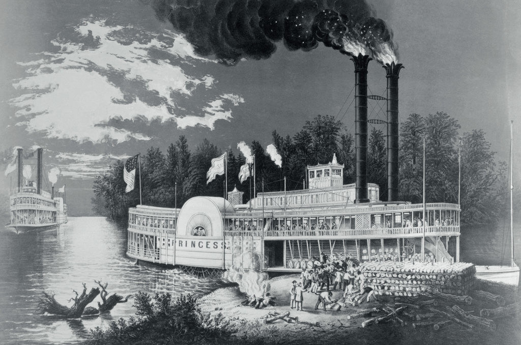 Detail of Mississippi Steamboat by Corbis