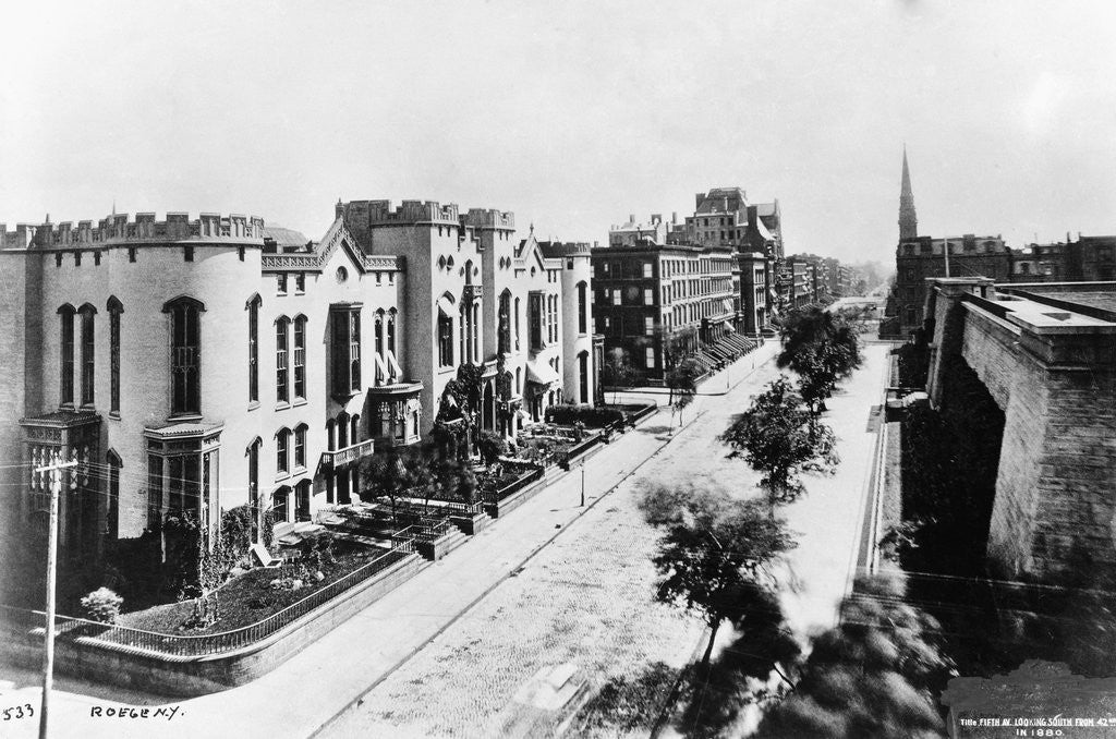 Detail of Fifth Avenue in 1880 by Corbis
