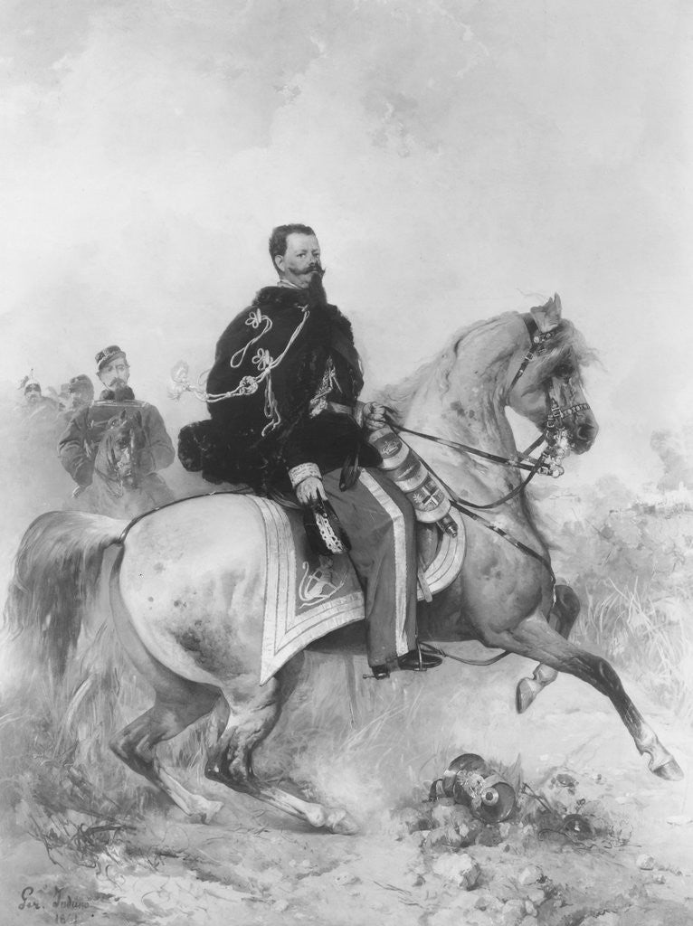 Detail of Vittorio Emmanuel II on Horseback by Corbis
