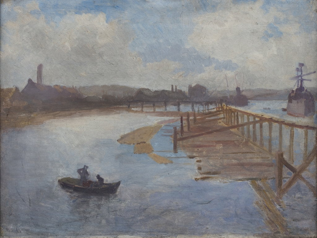 Detail of Jarrow Slake by Richard George Hatton
