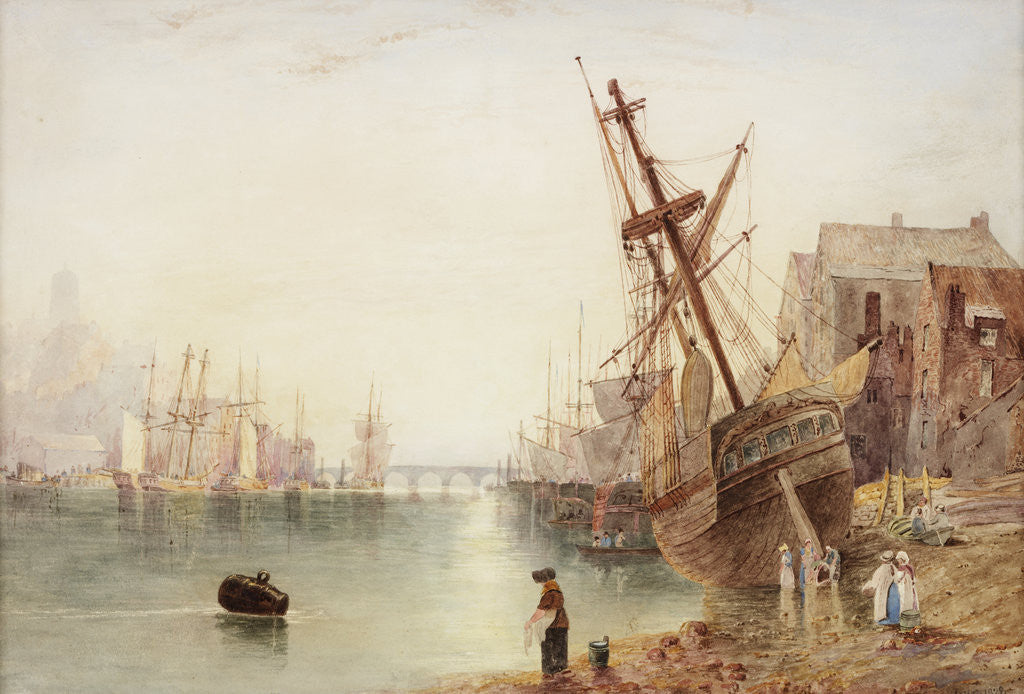Detail of The Tyne 1828 by John Wilson Carmichael