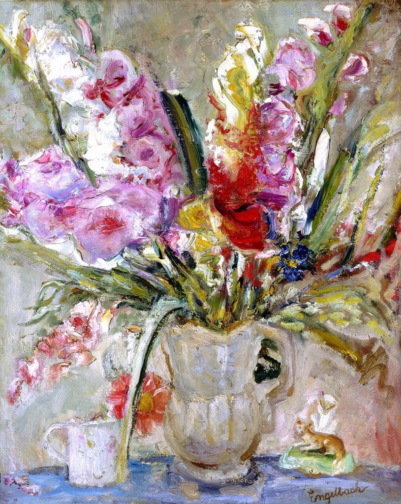 Detail of Gladioli by Florence Ada Engelbach