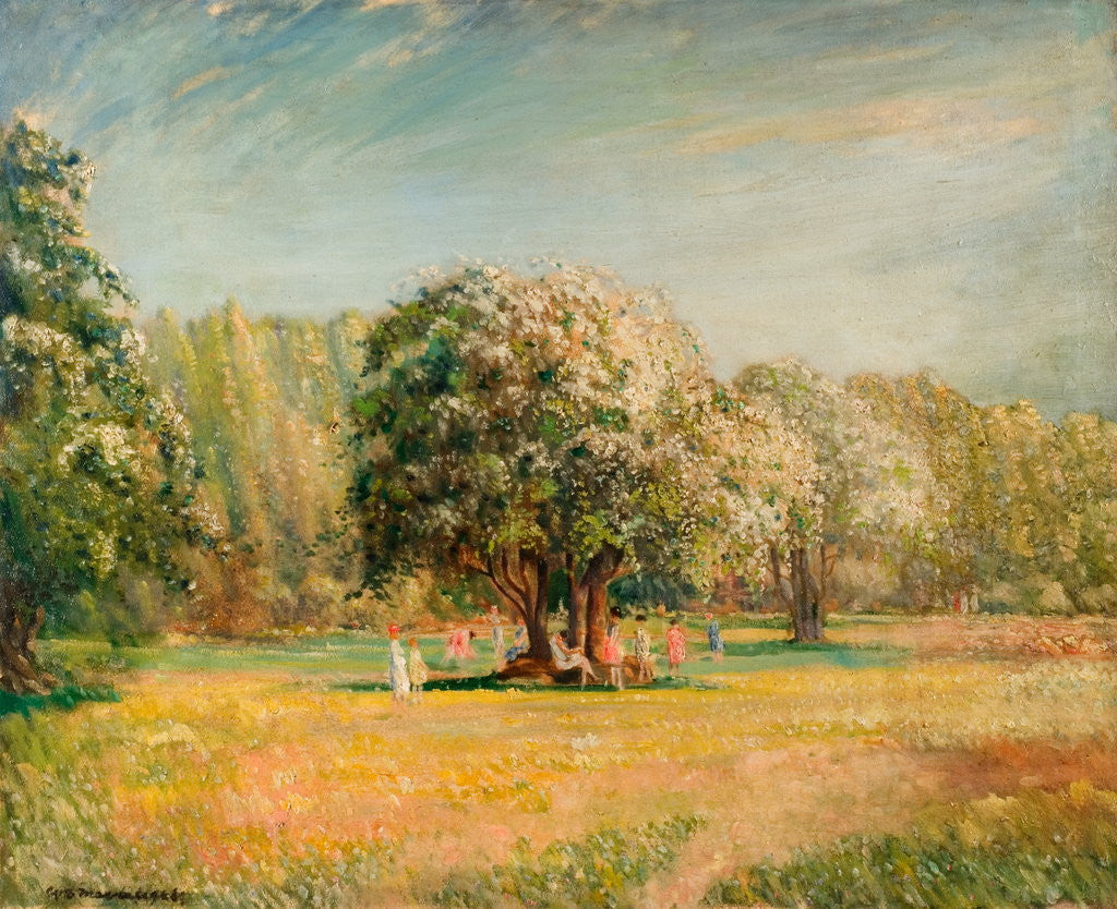 Detail of Blossom Time, Epping Forest by William Brown MacDougall