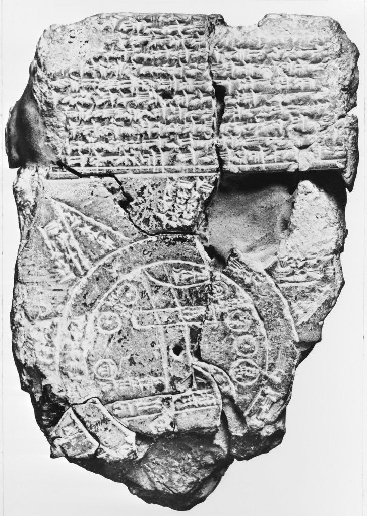 Detail of Babylonian Clay Tablet by Corbis