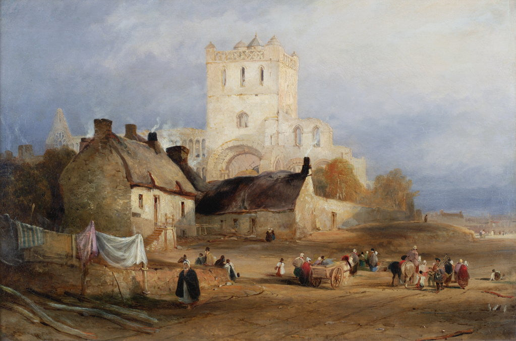Detail of Jedburgh Abbey by Thomas Miles Richardson Senior