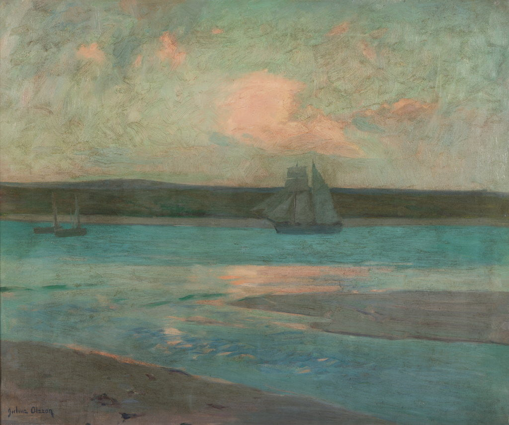 Detail of Evening, St Ives by Julius Olsson