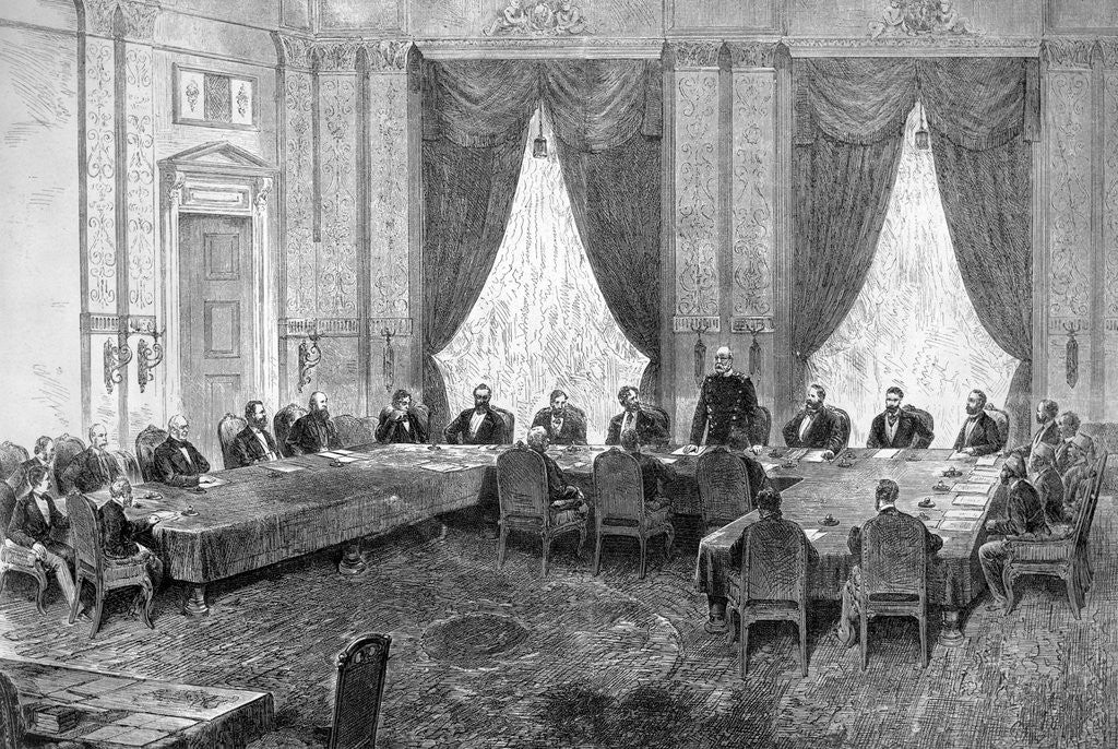 Detail of Engraving of the First Session of the Berlin Congress by Corbis