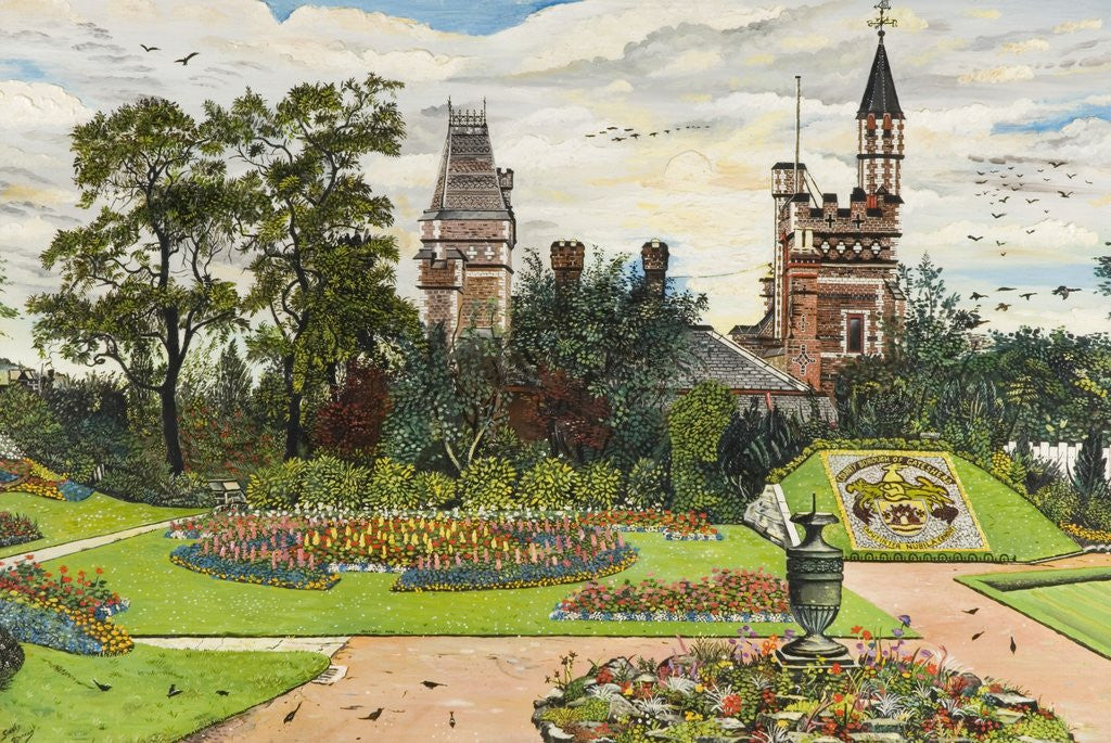 Detail of Saltwell Towers by Dennis Barrass