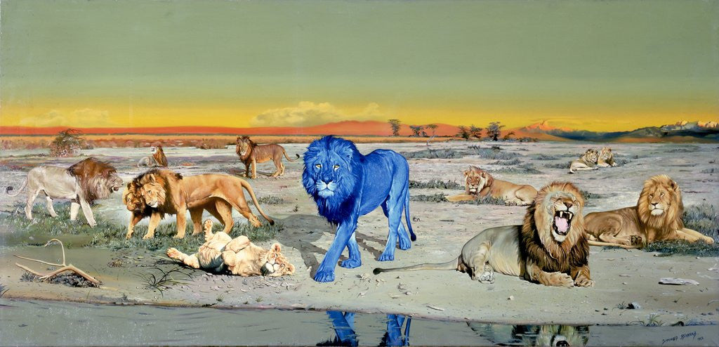 Detail of The Blue Lion by Dennis Barrass
