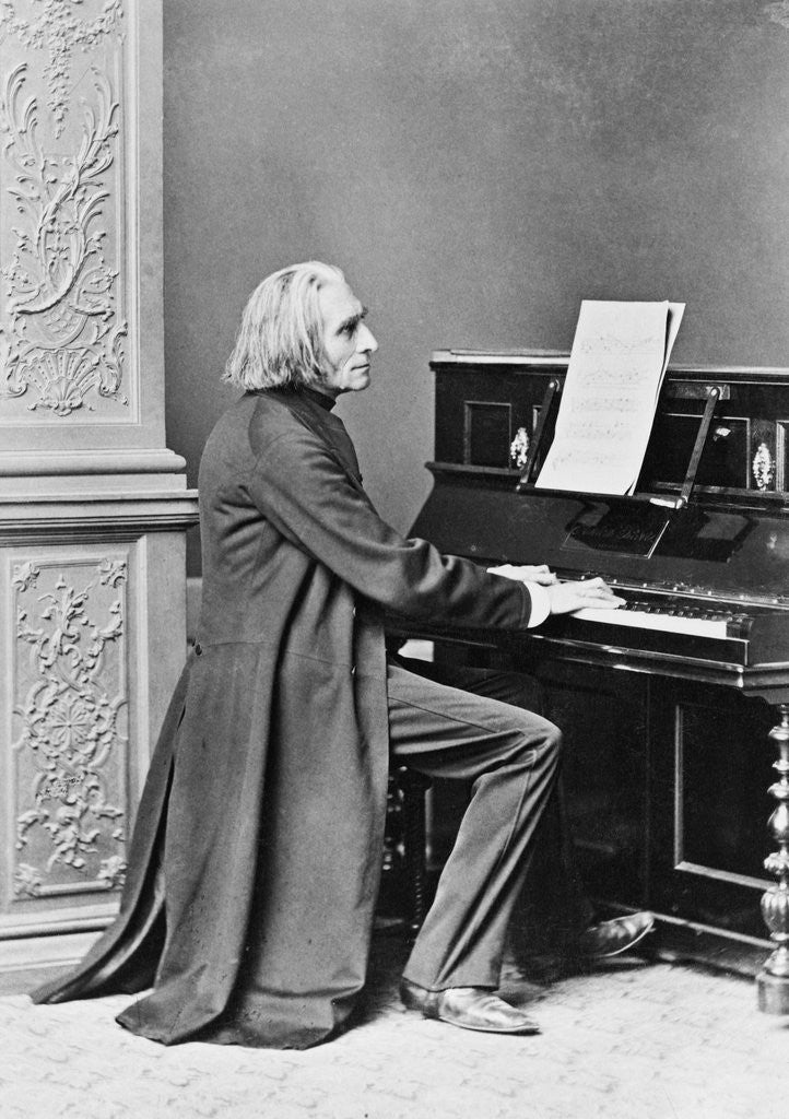 Franz Liszt Playing the Piano posters & prints by Corbis