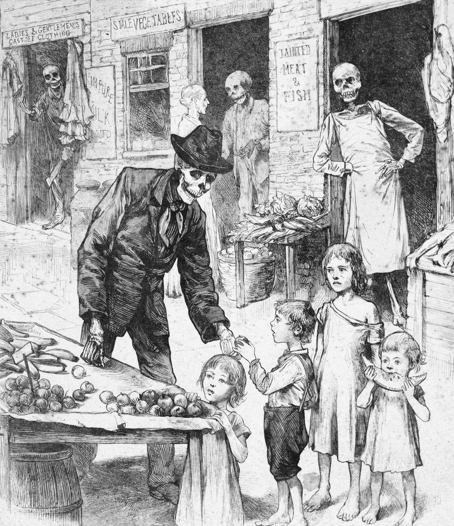 Detail of Cartoon about Cholera by Corbis