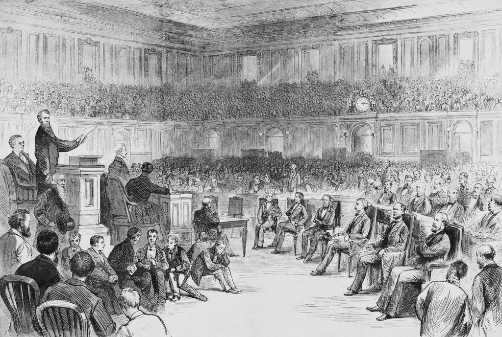 Detail of Illustration Depicting Politicians During Contest of a Florida Vote by Corbis