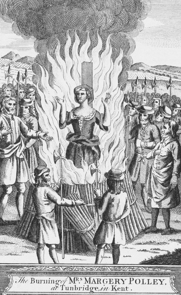 Detail of Margery Polley Burning at Stake by Corbis