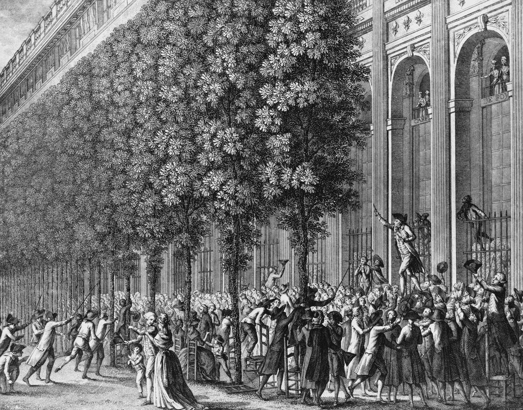 Detail of Camille Desmoulins Urging Crowd to Take up Arms by Corbis