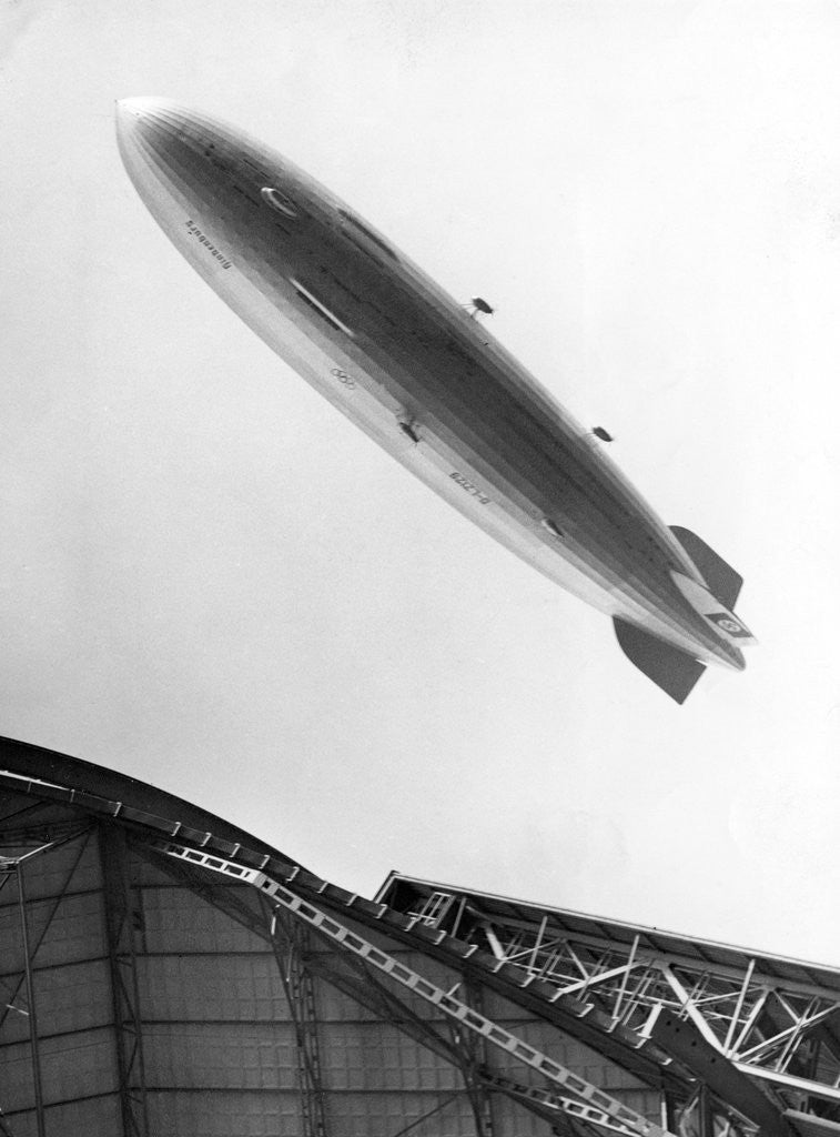 Detail of Hindenburg in Flight by Corbis